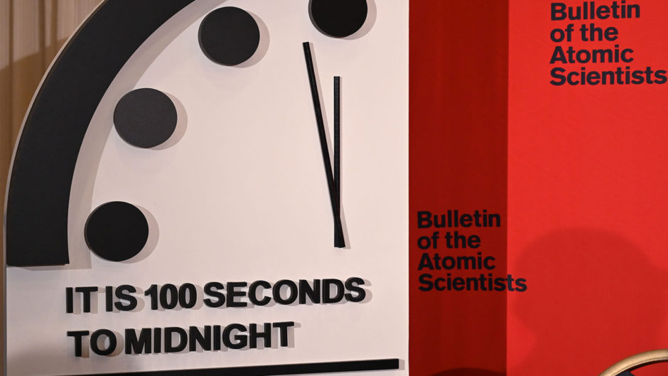 doomsday-clock-moves-closer-to-midnight,-due-in-part-to-climate-change