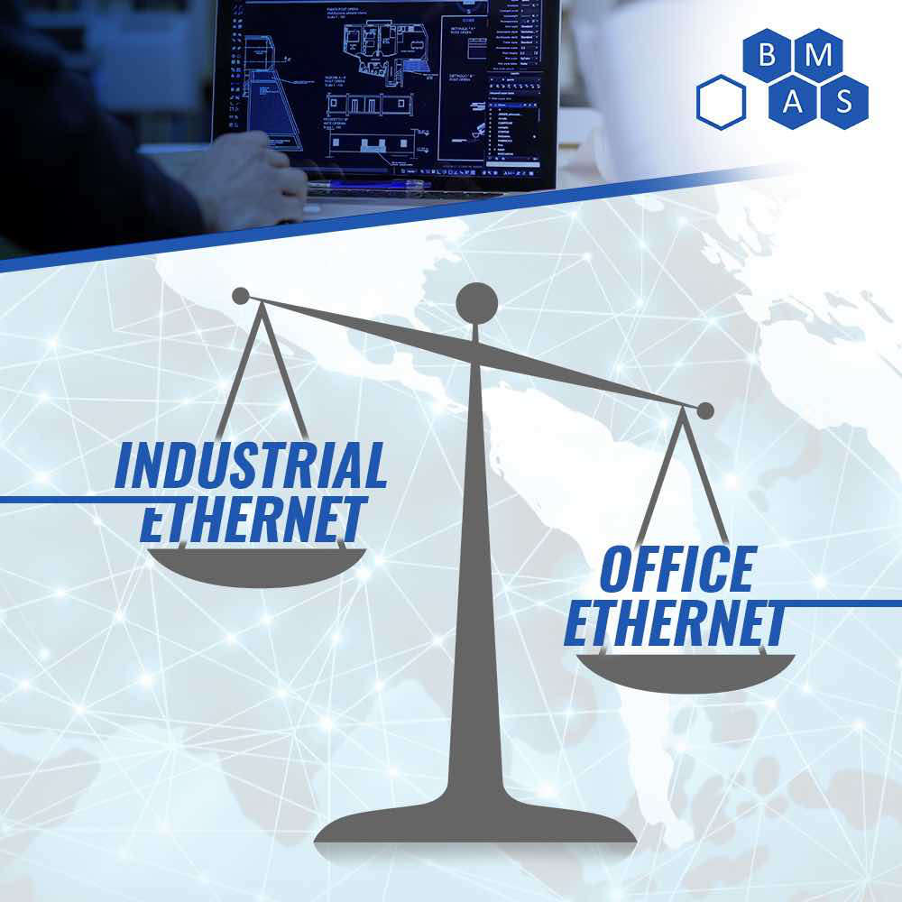 Key differences between office Ethernet and industrial Ethernet include determinism, electromagnetic interference (EMI), noise immunity and environmental ratings. Courtesy: Breen Machine Automation Services