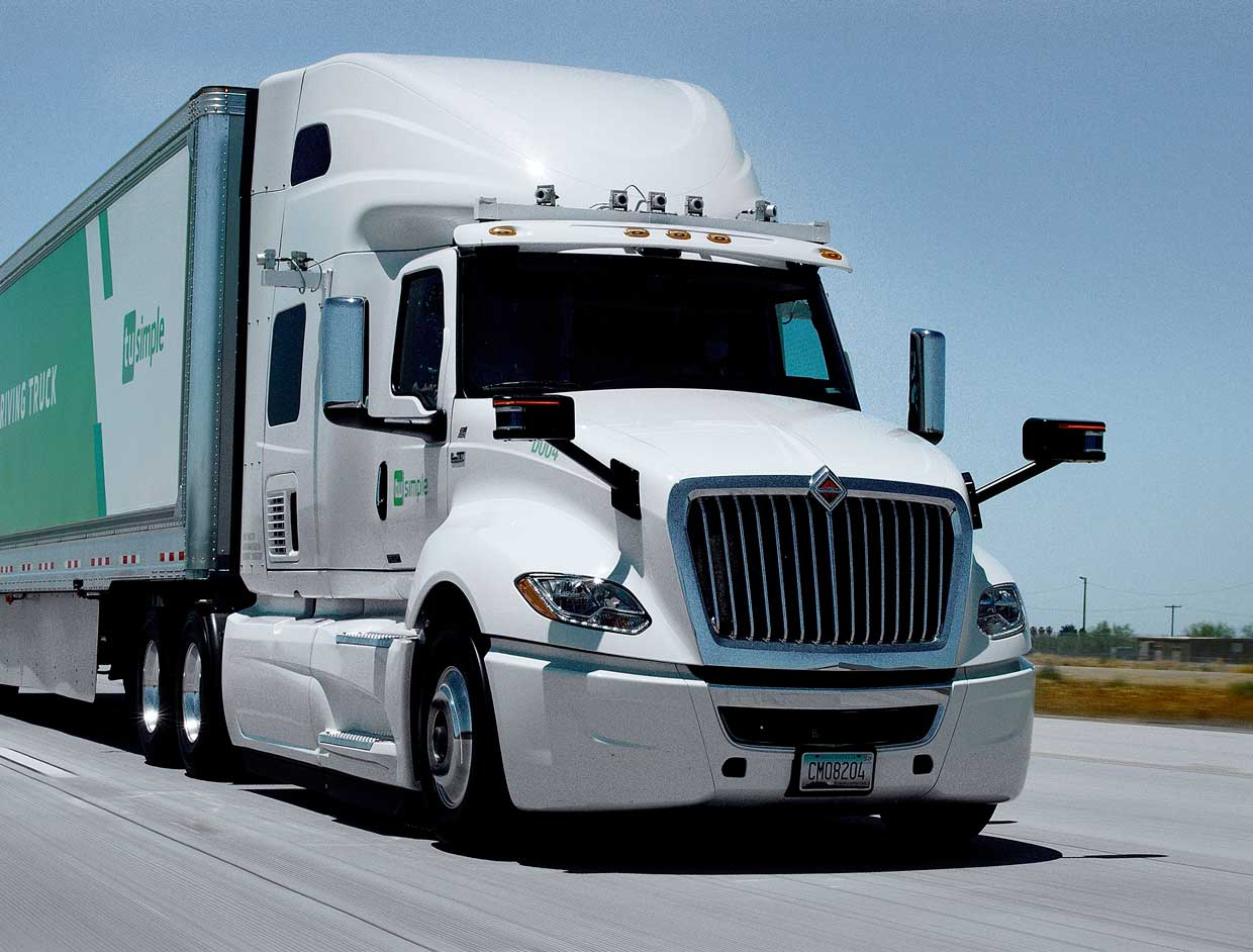 Photo of a tractor trailer truck