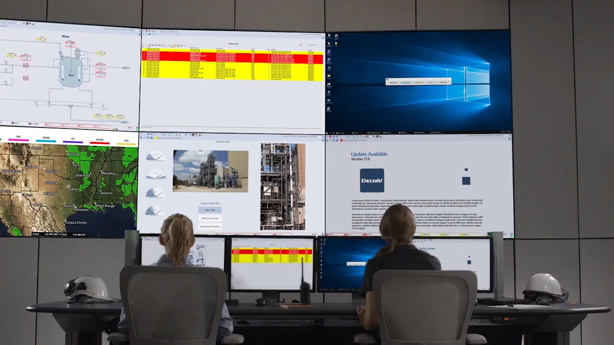 Figure 1: Critical control system data will be visible across the enterprise, enabling small teams to provide support for multiple geographically distant locations. Courtesy: Emerson