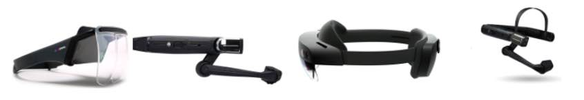 Figure 2: Examples of head-mounted devices (HMDs), various sources. Courtesy: Industrial Internet Consortium