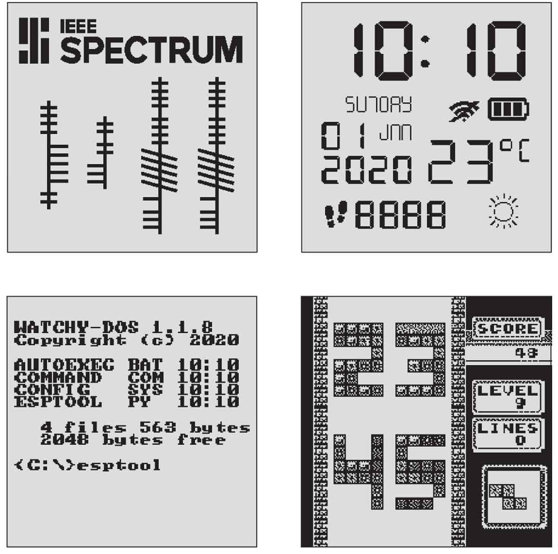 Illustration of differnet screens.
