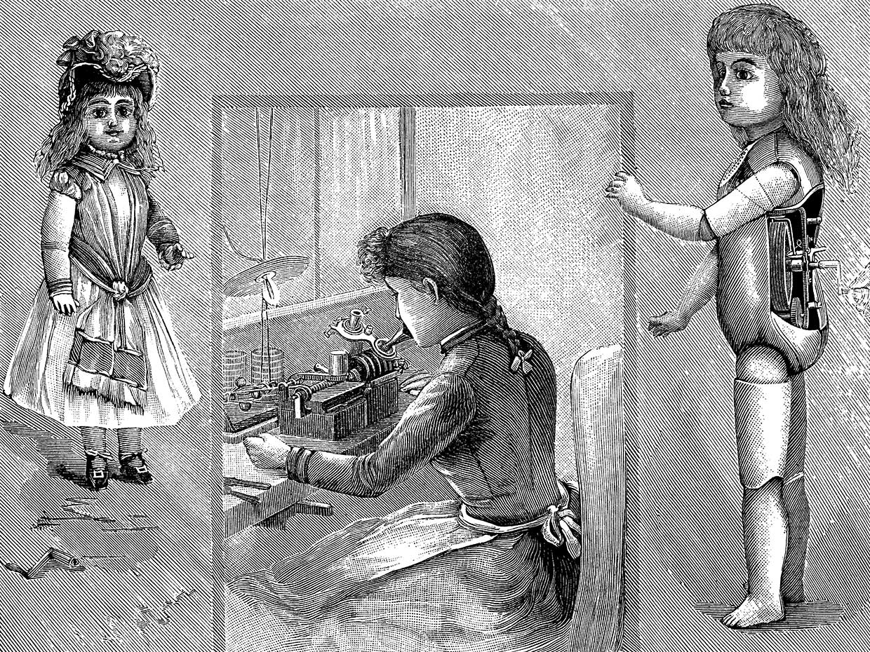 The electric pen wasn't as big a failure as Edison's creepy talking doll, which was pulled from the market after just two weeks.