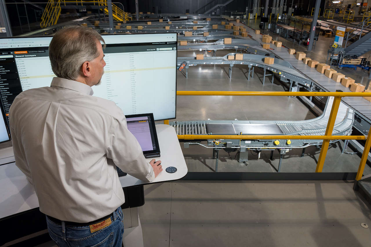 The MC4 PC-based control platform from Honeywell Intelligrated furthers The Connected Distribution Center concept, which connects hardware with KPIs to improve performance, reliability and maintainability. Courtesy: Beckhoff