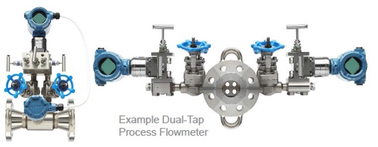 Figure 1: Preassembled, leak-tested dP-flowmeters minimize risk of engineering and assembly errors, fugitive emissions and leaks. Single and dual (redundant) configurations are shown. Courtesy: Emerson
