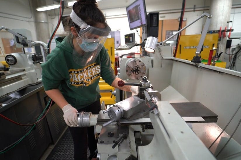 The College of Engineering's rigorous curriculum helps students become innovative problem-solvers, while hands-on design and capstone courses allow them to apply their engineering training to real challenges. Courtesy: University of Wisconsin-Madison