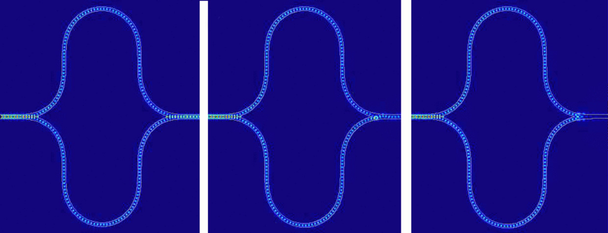 Image of simulations of the Mach-Zehnder interferometer.